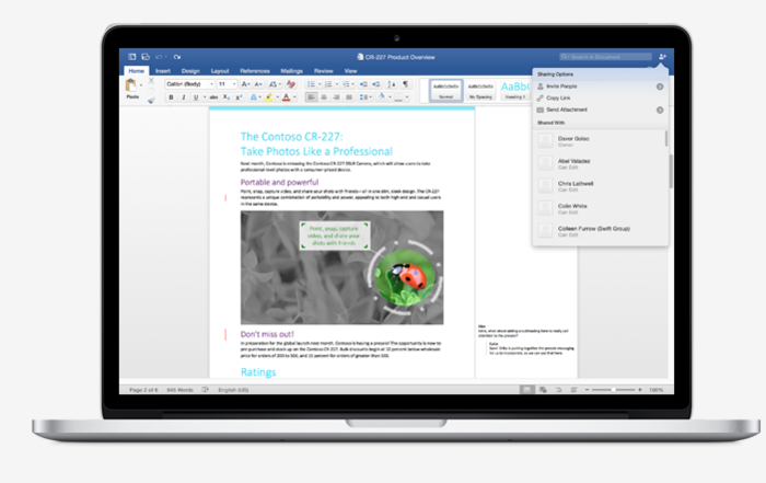 Screenshot 1 of Microsoft Word 2016