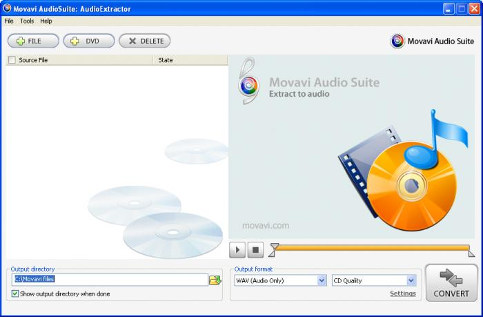 Screenshot 1 of Movavi Audio Suite