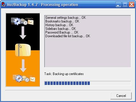 Screenshot 3 of MozBackup