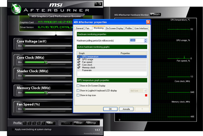 Screenshot 1 of MSI Afterburner