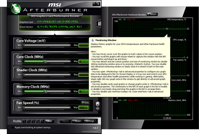 Screenshot 2 of MSI Afterburner