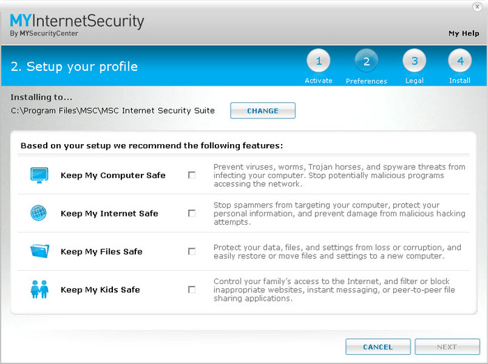 Screenshot 6 of MYInternetSecurity