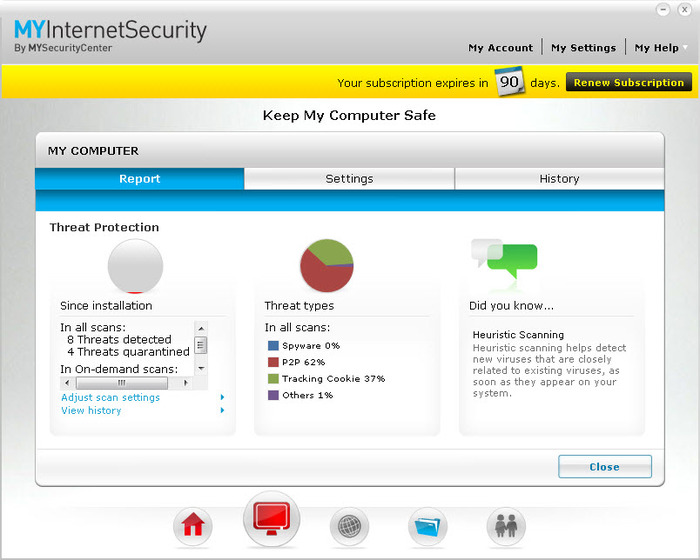 Screenshot 2 of MYInternetSecurity