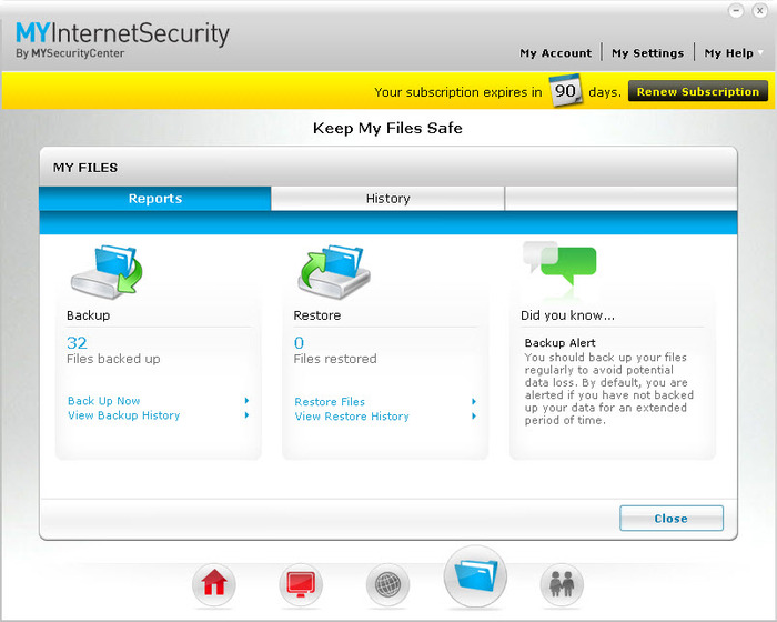 Screenshot 1 of MYInternetSecurity