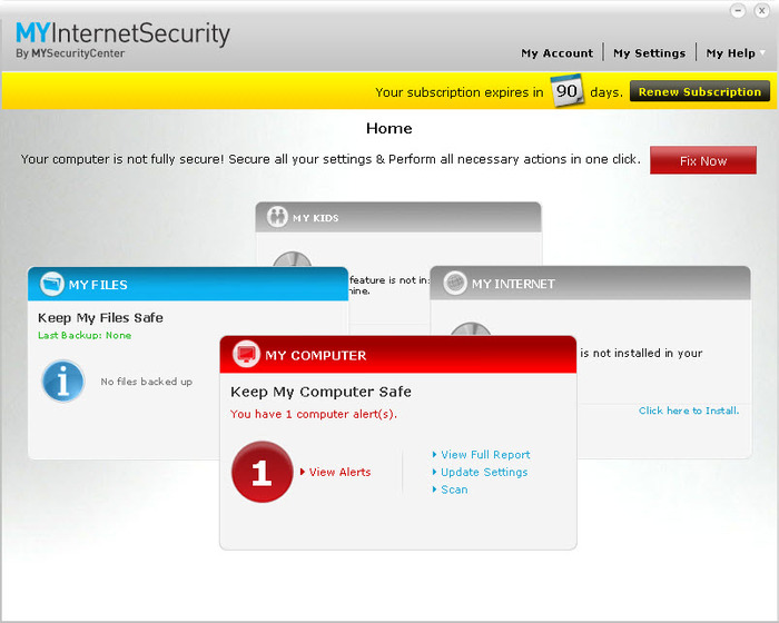 Screenshot 4 of MYInternetSecurity