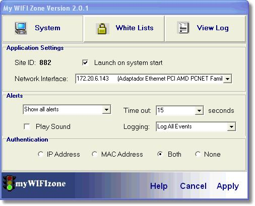 Screenshot 1 of myWIFIzone Internet Access Blocker