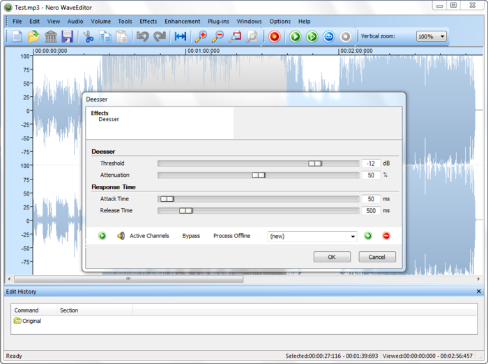 Screenshot 3 of Nero Wave Editor