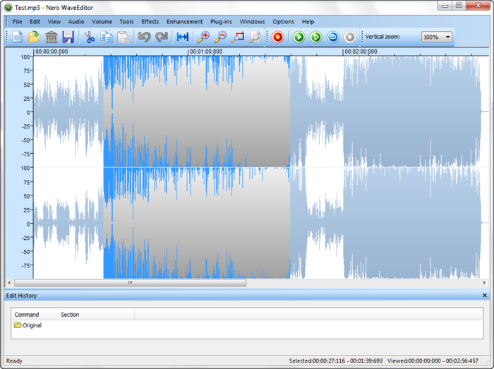 Screenshot 2 of Nero Wave Editor