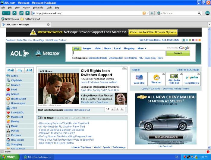 Download netscape navigator free — networkice. Com.