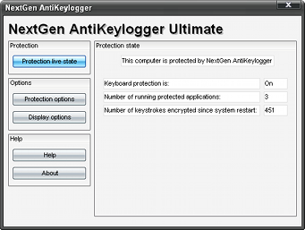 Screenshot 2 of NextGen AntiKeylogger Free