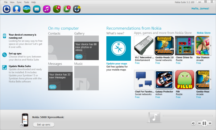 Nokia pc suite free download.