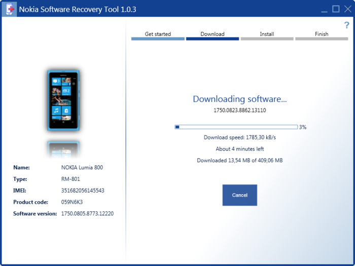 Screenshot 4 of Nokia Software Recovery Tool