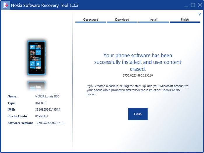 Screenshot 7 of Nokia Software Recovery Tool