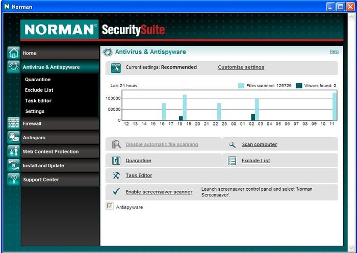 Screenshot 1 of Norman Antivirus & Antispyware