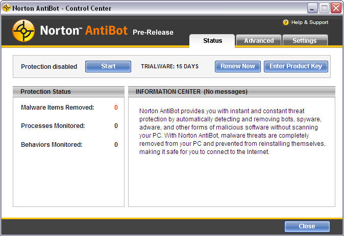 Screenshot 2 of Norton AntiBot