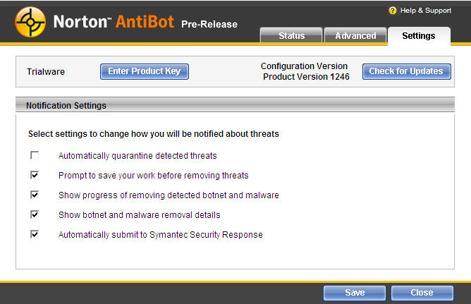 Screenshot 3 of Norton AntiBot