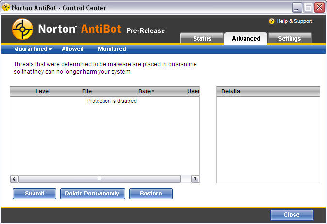 Screenshot 1 of Norton AntiBot