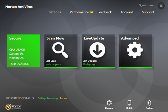 Screenshot 6 of Norton Antivirus
