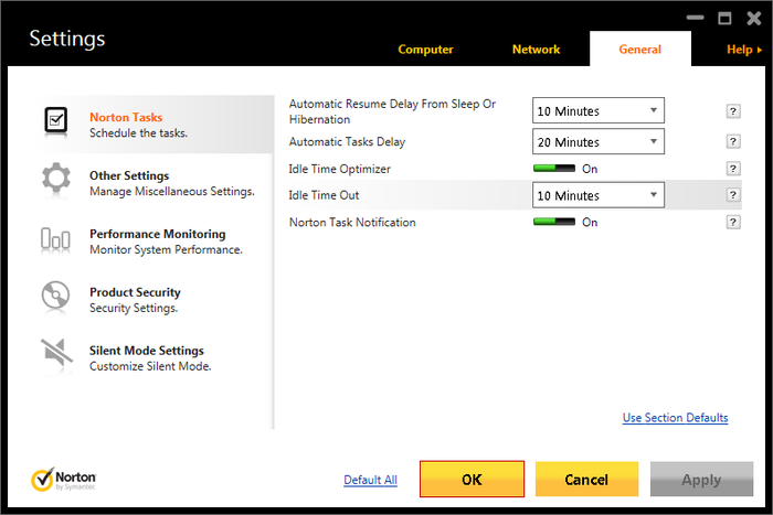 Screenshot 1 of Norton Antivirus
