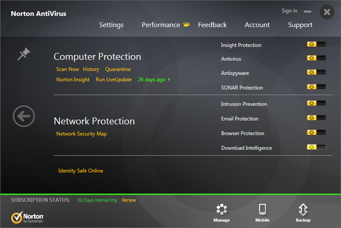 Screenshot 12 of Norton Antivirus