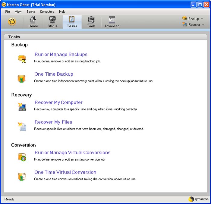 Screenshot 3 of Norton Ghost