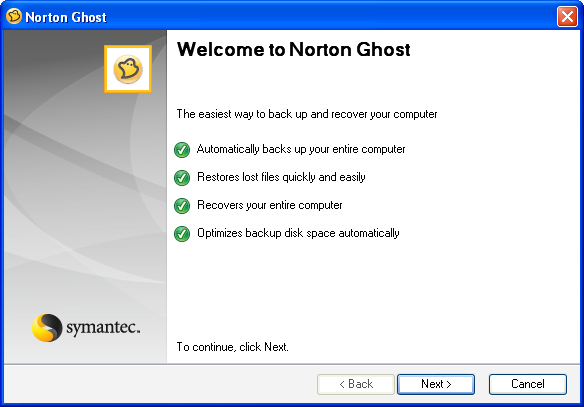 Screenshot 4 of Norton Ghost