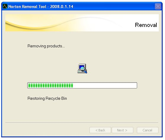 Screenshot 3 of Norton Removal Tool