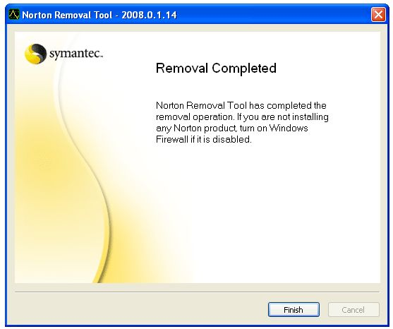Screenshot 4 of Norton Removal Tool
