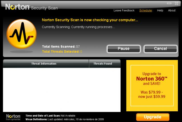 Screenshot 2 of Norton Security Scan