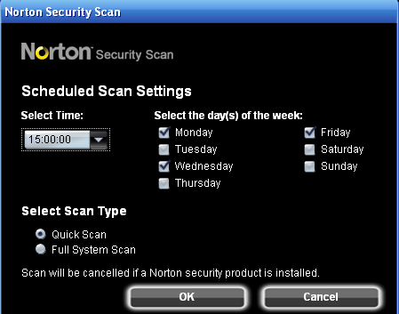 Screenshot 3 of Norton Security Scan