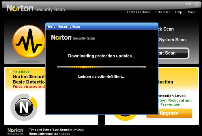 Screenshot 1 of Norton Security Scan