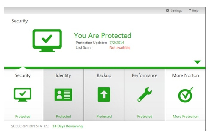 Screenshot 2 of Norton Internet Security