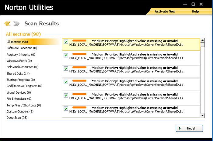 Screenshot 3 of Norton Utilities