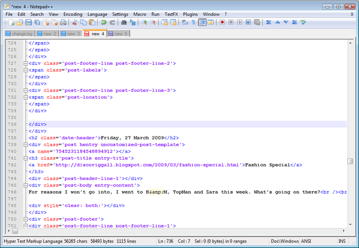 Screenshot 2 of Notepad++