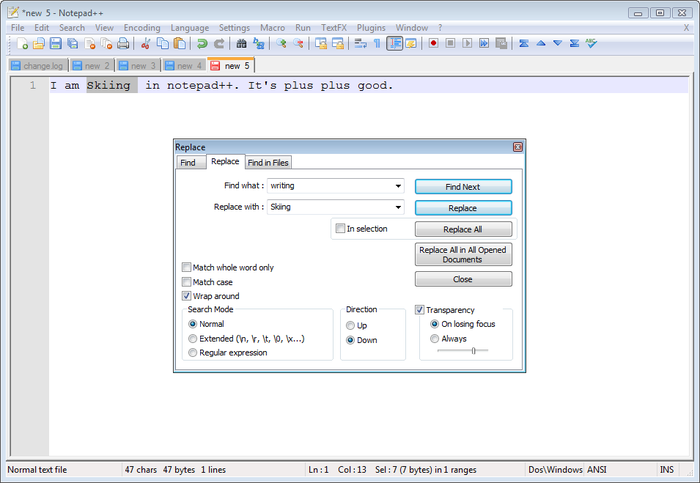 Screenshot 5 of Notepad++