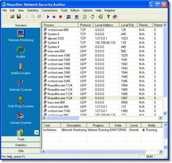 Screenshot 2 of Nsauditor Network Security Auditor