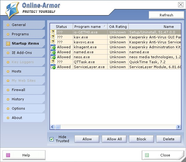 Screenshot 4 of Online Armor Free