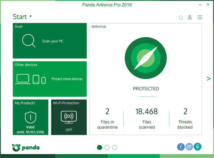 Screenshot 2 of Panda Antivirus Pro