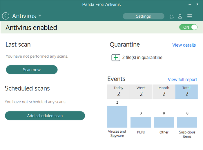 Screenshot 4 of Panda Free Antivirus