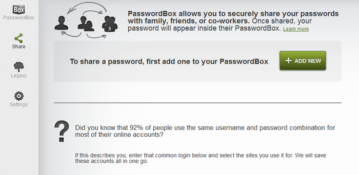 Screenshot 1 of PasswordBox