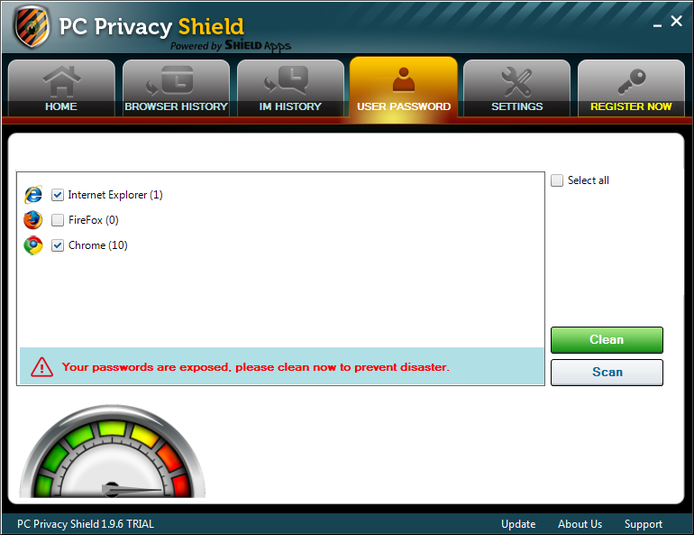 Screenshot 5 of PC Privacy Shield