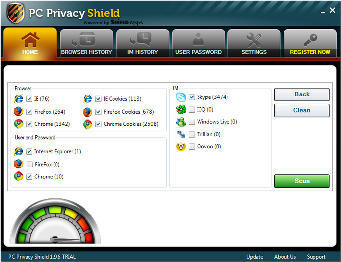 Screenshot 2 of PC Privacy Shield