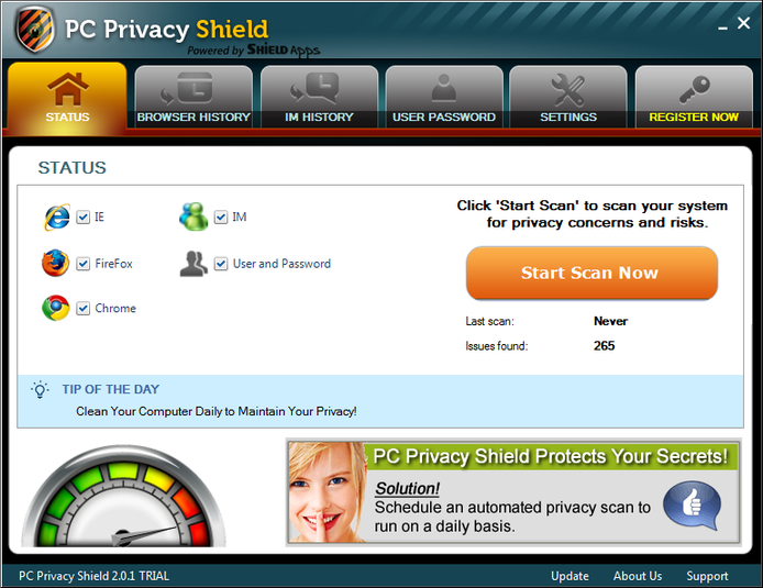Screenshot 1 of PC Privacy Shield