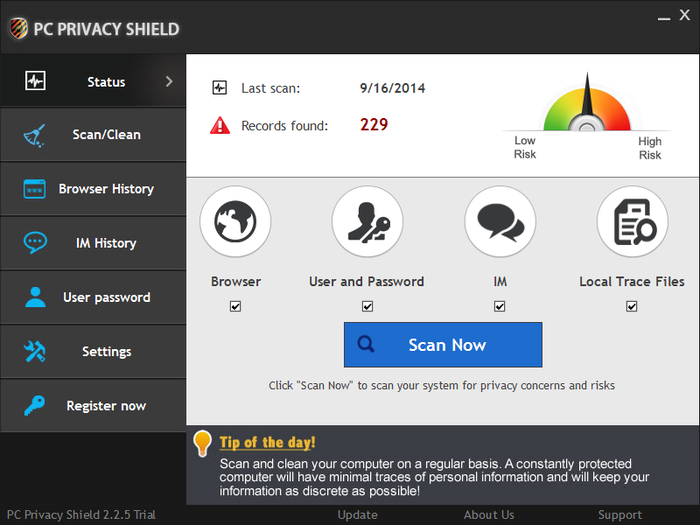 Screenshot 8 of PC Privacy Shield