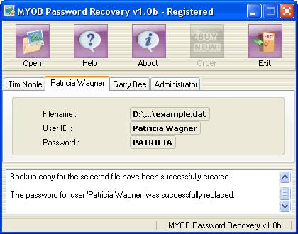 Screenshot 1 of Peachtree Password Recovery