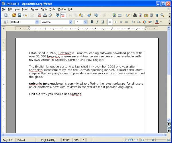 Download Portable OpenOffice org free — NetworkIce com