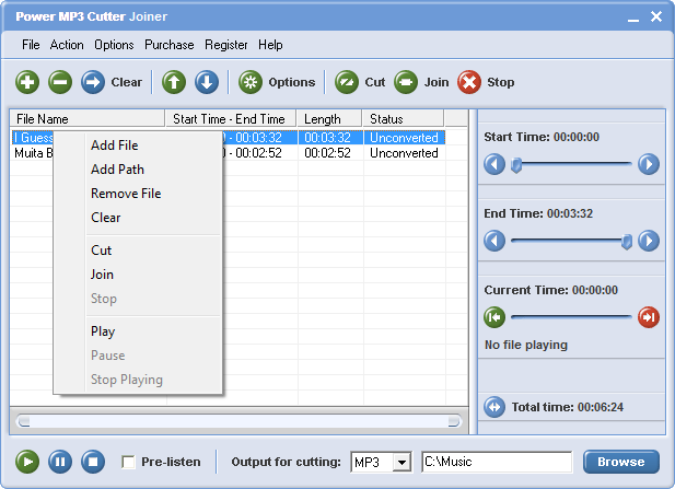power mp3 cutter joiner free download full version with key