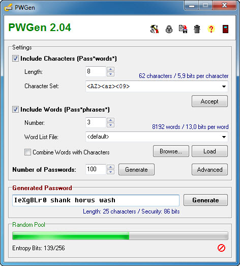 Screenshot 6 of PWGen