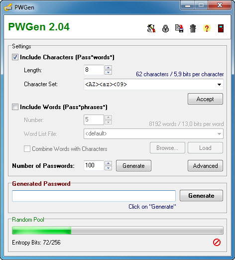 Screenshot 1 of PWGen
