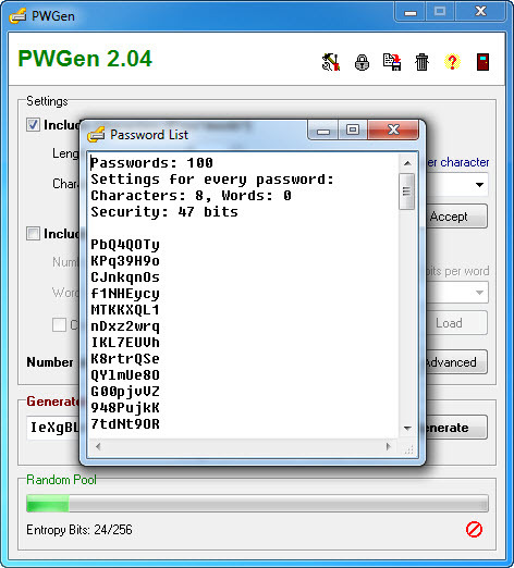Screenshot 7 of PWGen